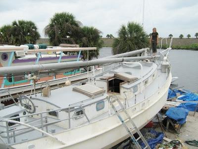 masts on deck
